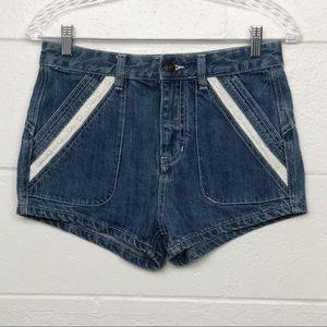 Free People Sweet Surrender Blue Jean Shorts 26